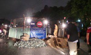 Tai nạn khi không có đèn báo hiệu thi công tại các công trình dở dang