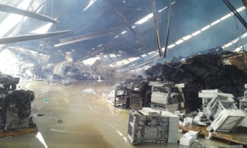 Cận cảnh những thiệt hại trong vụ cháy ở Khu công nghiệp Quang Minh